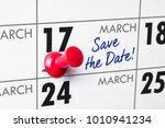 wall calendar with a red pin  ... | Shutterstock . vector #1010941234