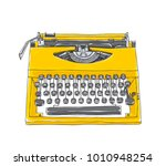 yellowtypewriter old hand drawn ...