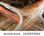 The Car Light Trails In The...