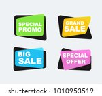 simple flat linear promotion... | Shutterstock .eps vector #1010953519