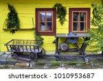 wooden  rustic window in... | Shutterstock . vector #1010953687