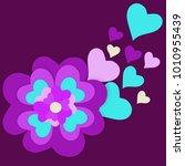 vector illustration valentines ... | Shutterstock .eps vector #1010955439