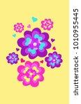 vector illustration valentines ... | Shutterstock .eps vector #1010955445
