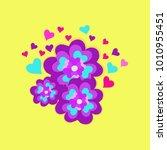 vector illustration valentines ... | Shutterstock .eps vector #1010955451