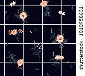 summer grid seamless pattern... | Shutterstock .eps vector #1010958631