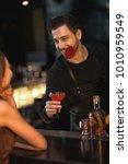 vertical shot of a handsome... | Shutterstock . vector #1010959549