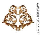 gold vintage baroque ornament... | Shutterstock .eps vector #1010960977