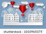 valentine's day illustration.... | Shutterstock . vector #1010965375