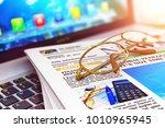 creative abstract 3d render... | Shutterstock . vector #1010965945