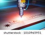 laser cutting metal industry ...   Shutterstock . vector #1010965951