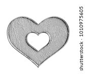 rough stone textured heart with ... | Shutterstock . vector #1010975605