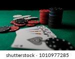 poker hands   royal flush 3....   Shutterstock . vector #1010977285