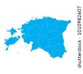 blue map of estonia | Shutterstock .eps vector #1010982607