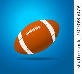 football ball with blue...   Shutterstock .eps vector #1010985079