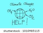 climate change  methane ... | Shutterstock . vector #1010985115