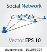 vector blue social network... | Shutterstock .eps vector #101099029