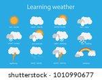 learning weather for children ...   Shutterstock .eps vector #1010990677
