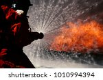 fire drills in the training... | Shutterstock . vector #1010994394