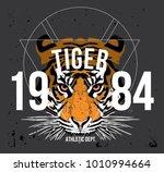 tiger t shirt design vector   Shutterstock .eps vector #1010994664