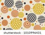 geometric circle seamless... | Shutterstock .eps vector #1010996431
