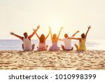big happy family or group of... | Shutterstock . vector #1010998399