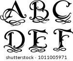 letter monogram set uppercase | Shutterstock .eps vector #1011005971