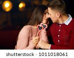 valentine's day concept. happy... | Shutterstock . vector #1011018061