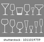 set of white empty different... | Shutterstock . vector #1011019759