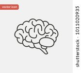 brain icon in line style. side... | Shutterstock .eps vector #1011020935