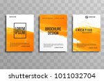 abstract watercolor business...   Shutterstock .eps vector #1011032704