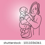 vector art drawing of young... | Shutterstock .eps vector #1011036361