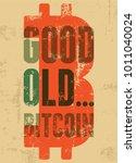 bitcoin typographic vintage... | Shutterstock .eps vector #1011040024