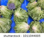 lettuce in market   Shutterstock . vector #1011044005