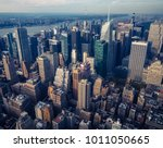 new york city seen from the... | Shutterstock . vector #1011050665