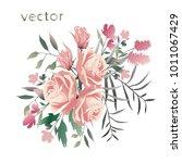 vector illustration of branch... | Shutterstock .eps vector #1011067429