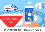 emergency call concept... | Shutterstock .eps vector #1011077281