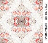 floral vintage background.... | Shutterstock . vector #1011077569