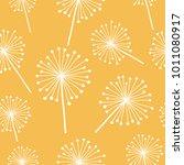 doodle hand drawn  dandelion... | Shutterstock .eps vector #1011080917