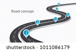 winding 3d road concept on a... | Shutterstock .eps vector #1011086179