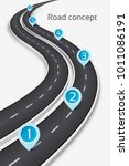 winding 3d road concept on a... | Shutterstock .eps vector #1011086191