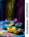 indian holi festival colours.... | Shutterstock . vector #1011094114