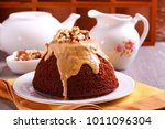 sticky toffee pudding with...   Shutterstock . vector #1011096304