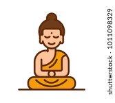 buddha icon. buddhism religion...   Shutterstock .eps vector #1011098329
