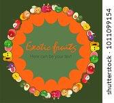 fruit poster of vector fruits...   Shutterstock .eps vector #1011099154