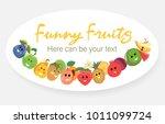 fruit poster of vector fruits...   Shutterstock .eps vector #1011099724