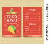 taco menu template | Shutterstock .eps vector #1011105811