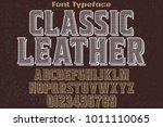 vintage font typeface... | Shutterstock .eps vector #1011110065