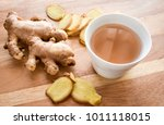 ginger tea asian herbal hot... | Shutterstock . vector #1011118015