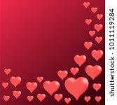 hearts background  vector | Shutterstock .eps vector #1011119284