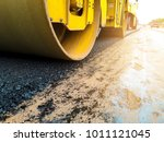 Small photo of Road Roller Road Construction Machinery. Transportation Repair.